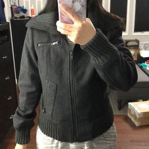 Charcoal gray Bomber jacket